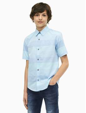 Calvin Klein boys active stripe short sleeve shirt