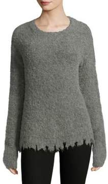 ATM Anthony Thomas Melillo Raw Edge Hem Sweater