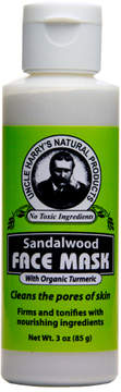 Sandalwood Face Mask by Uncle Harry's Natural Products (3oz Mask)