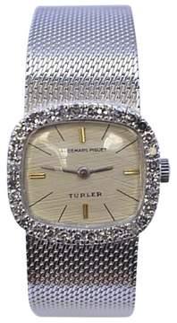 Audemars Piguet 18K White Gold White Dial Diamond Bezel Manual Womens Watch