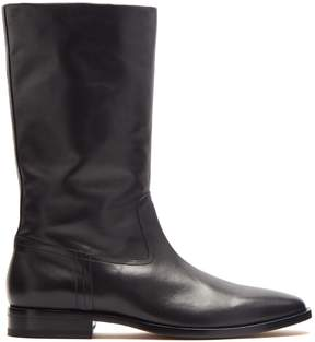 Saint Laurent Matt 25 leather boots