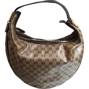 Gucci Hobo leather handbag - BEIGE - STYLE