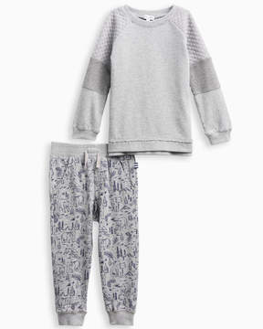 Splendid Little Boy Mixed Fabric Pant Set