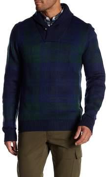 Joe Fresh Plaid Shawl Collar Sweater