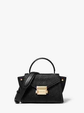 MICHAEL Michael Kors Whitney Mini Deco Quilted Leather Satchel