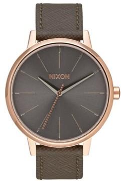 Nixon Men's 'Kensington' Leather Strap Watch, 37Mm