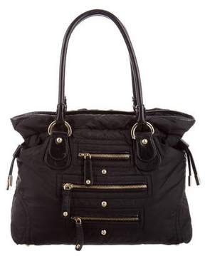 Tod's Nylon & Leather-Trimmed Tote