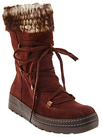 Bare Traps As Is BareTraps Suede Water Repellent Faux Shearling Boots
