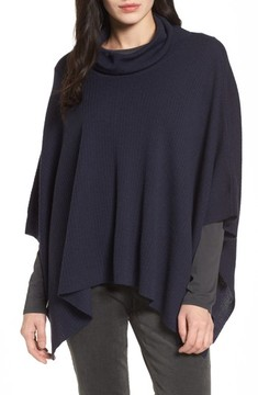 Eileen Fisher Women's Merino Wool Cowl Neck Poncho