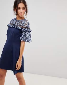 Keepsake Floral Lace Sleeve Dress