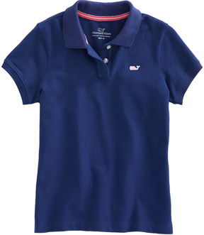 Vineyard Vines Girls Solid Pique Polo