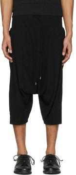 The Viridi-anne Black Baggy Pocket Shorts