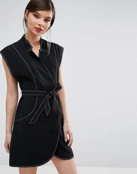 C/Meo Collective Collective Right Now Wrap Mini Dress