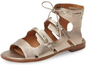 Corso Como Champagne Leather Gladiator Sandal