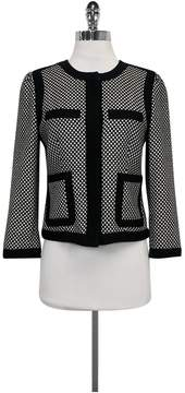 Club Monaco Black & White Patterned Blazer