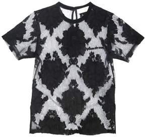 Fleur Du Mal | Lace T-Shirt | L | Black