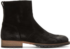 Belstaff Black Suede Attwell Boots