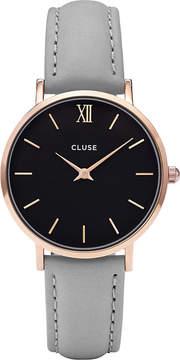 Cluse CL30018 Minuit leather watch