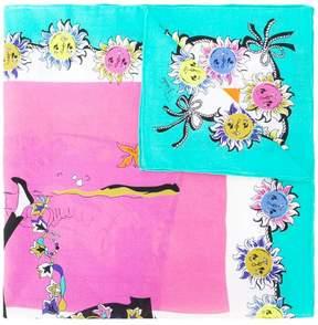 Emilio Pucci sketch print scarf