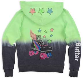 Butter Shoes Girls' Dip-Dyed Embellished Roller Skate Hoodie - Big Kid