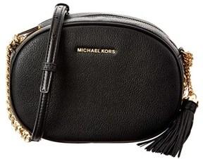 MICHAEL Michael Kors Ginny Medium Leather Messenger. - BLACK - STYLE