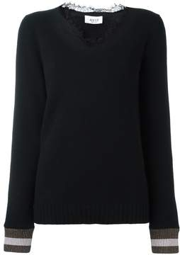 Aviu lace collar jumper
