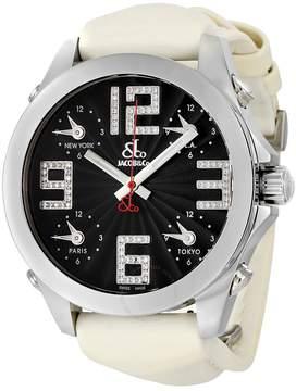 Jacob & co Five time Zone Black Dial Diamond Men's Watch