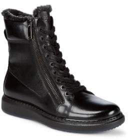 Karl Lagerfeld Zipped Leather Boots