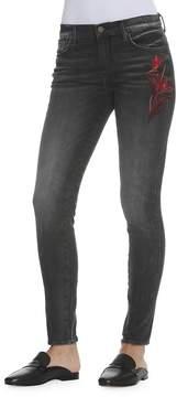Driftwood Women's Bird Paradise Embroidered Jeans - Dark Grey, Size 26 (2-4)