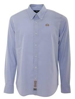 La Martina Men's Light Blue Cotton Shirt.