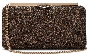 Jimmy Choo Ellipse Glitter Embellished Clutch - Womens - Gold Multi