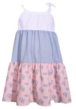 Iris & Ivy Little Girl's Eyelet Double Tiered Dress
