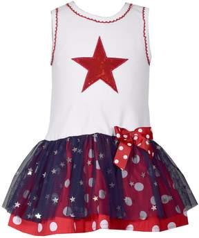 Bonnie Jean Toddler Girl Star Tulle Dress