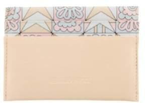 Emilio Pucci Leather Printed Cardholder
