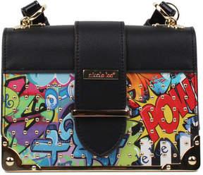 Nicole Lee Women's Street Style Graffiti Print Mini Box Cross Bag
