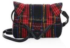 Elena Ghisellini Felix Tartan Crossbody Bag