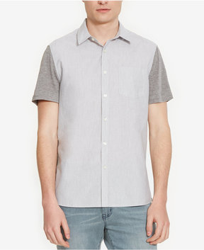 Kenneth Cole New York Men's Heathered Colorblocked Shirt