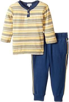 Splendid Littles Striped Henley Shirt and Pants Set (Infant)