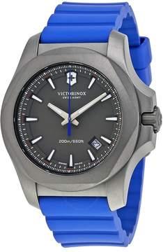 Victorinox I.N.O.X. Grey Dial Men's Blue Rubber Watch