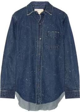 Current/Elliott The Prep School Distressed Denim Shirt