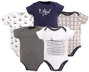 Hudson Baby Navy & White Sailboat Bodysuit Set - Infant