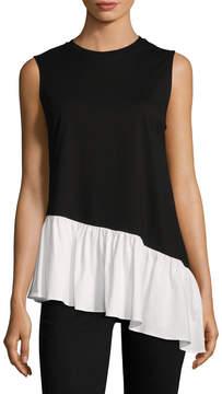 Edit Women's Assymetrical Cotton T-Shirt