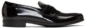 Prada Black Logo Loafers