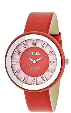 Crayo Celebration Collection CRACR3408 Unisex Watch with Leather Strap