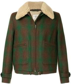 Kent & Curwen furry collar coat