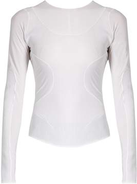 Esteban Cortazar Long-sleeved panelled jersey top