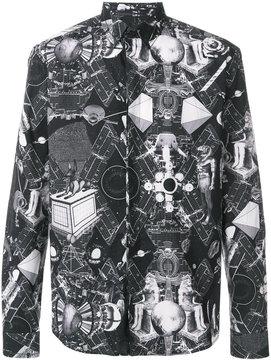 Frankie Morello space Egypt print shirt