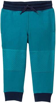 Gymboree Blue Mesh-Knee Fleece-Lined Joggers - Infant, Toddler & Boys