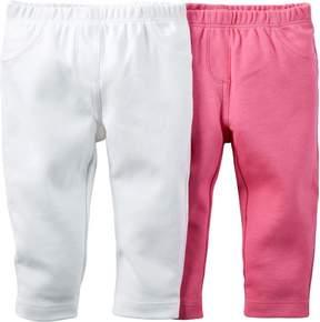 Carter's Baby Girls 2-pk. Solid Pants