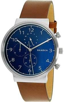 Skagen Men's Ancher SKW6358 Brown Leather Quartz Fashion Watch